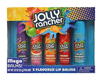 Jolly Rancher Flavored Mega Lip Balm 5 Pack Gift Set