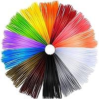 Anpro 14 Piece 3D Pen Filament 1.75mm ABS - 3D Pen Refills / 3D Printer Filament for 3D Print Pen in Multicolor Pack 20 Feet Lengths