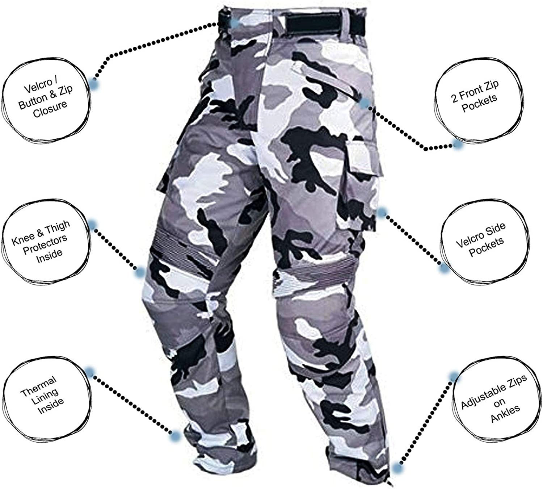 Mens Black Textile WATERPROOF CE ARMOURED Motorbike Motorcycle Trousers//Pants S