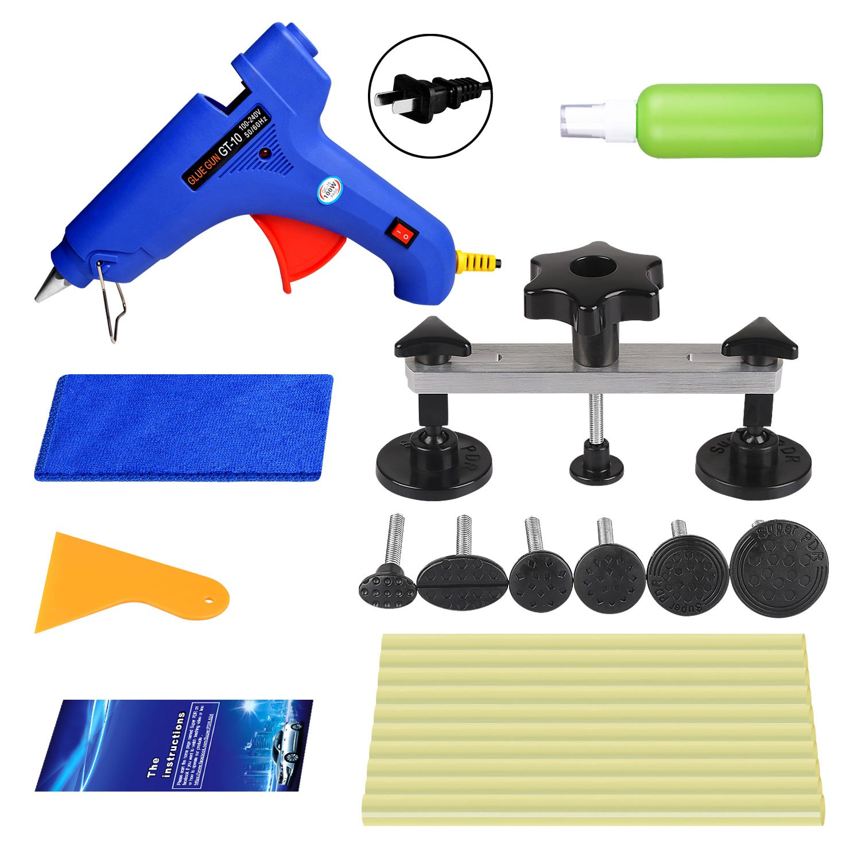 Super PDR Dent Puller 16pcs DIY Car Repair Tools bridge Puller Kit PDR Paintless Dent Repair Tool Kit
