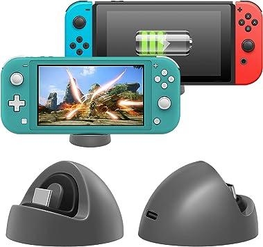 FASTSNAIL Mini cargador para Nintendo Switch/Switch Lite, base de carga abovedada, base de carga para interruptor y interruptor Lite: Amazon.es: Electrónica