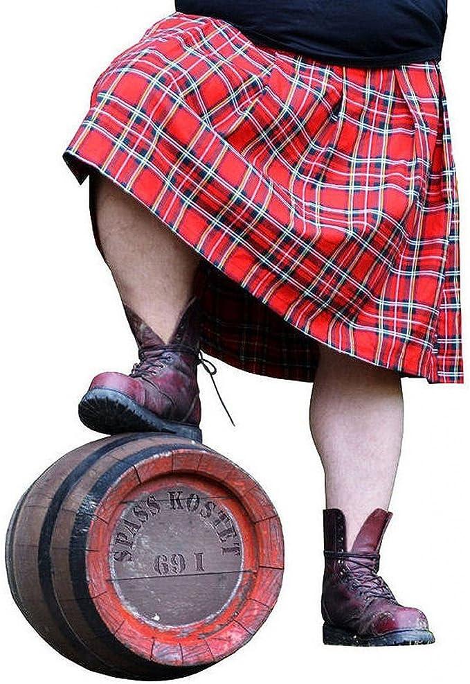 Spaß Kostet Männer Und Herren Schottenrock Kilt Rot Schwarz Größe M 4xl Bekleidung