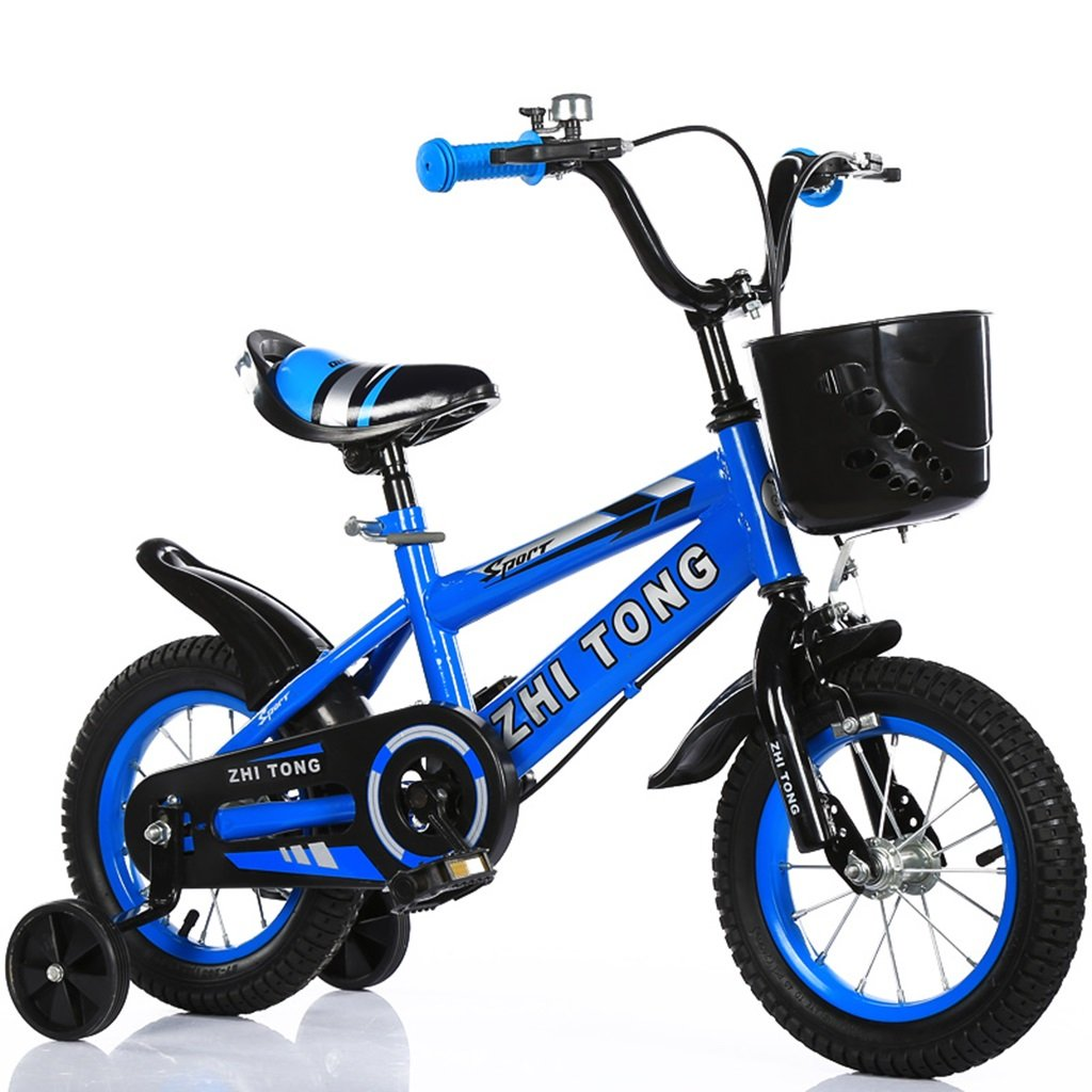 子供の自転車、男の子と女の子アシストホイールに適して高炭素鋼滑り止めタイヤ強力な安全性2-10歳88-121CM (色 : 青, サイズ さいず : 121CM) B07D5ZKVC5青 121CM