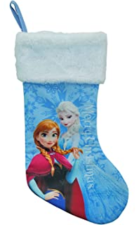 Amazon.com: Disney Frozen Christmas Felt Stocking 18inch Purple ...