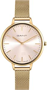 Gant Sarasota Women Analogue Watch With Silver Dial And Silver And Rose Gold Mesh Bracelet - GT072001