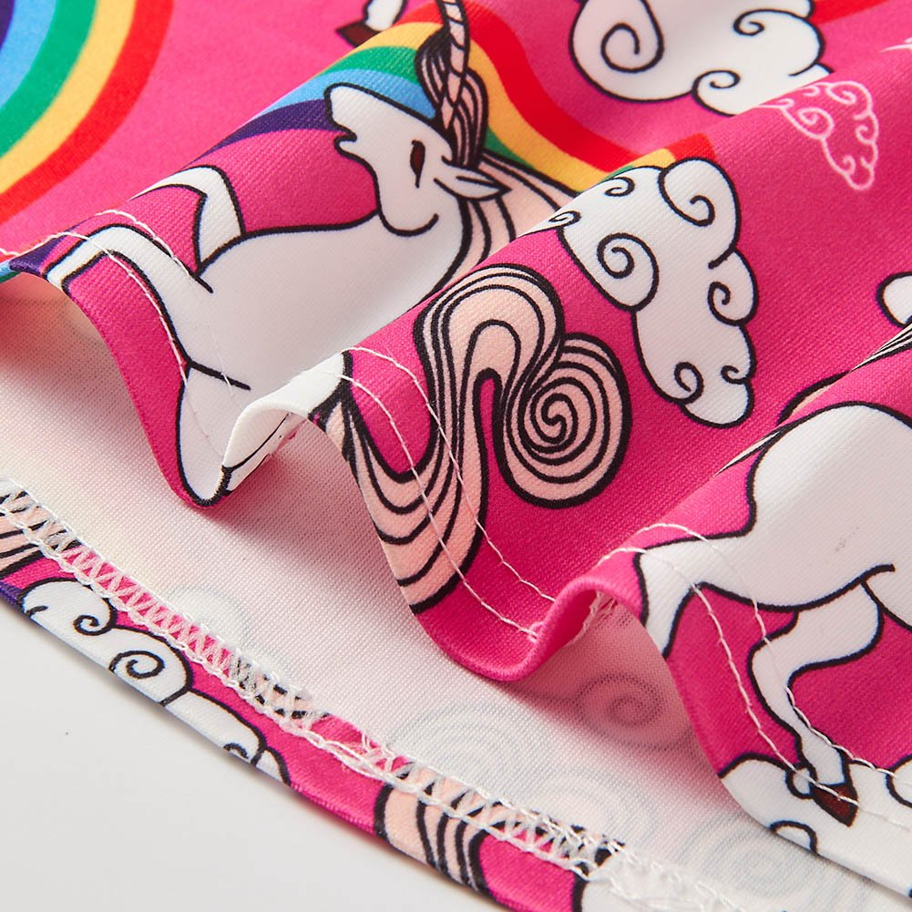 Chicolife Unicorn Dresses, Girls 3-5t Princess Dress Cartoon Pattern Sleeveless Dress Pink Small