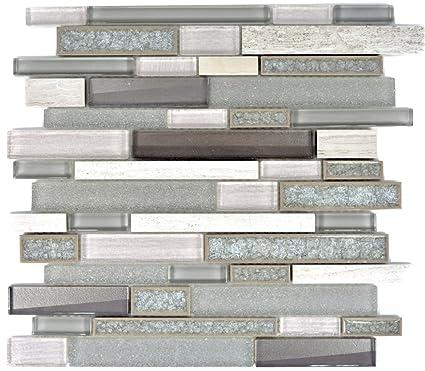 Mosaico Piastrelle in ceramica grigio composito mosaico di vetro ...