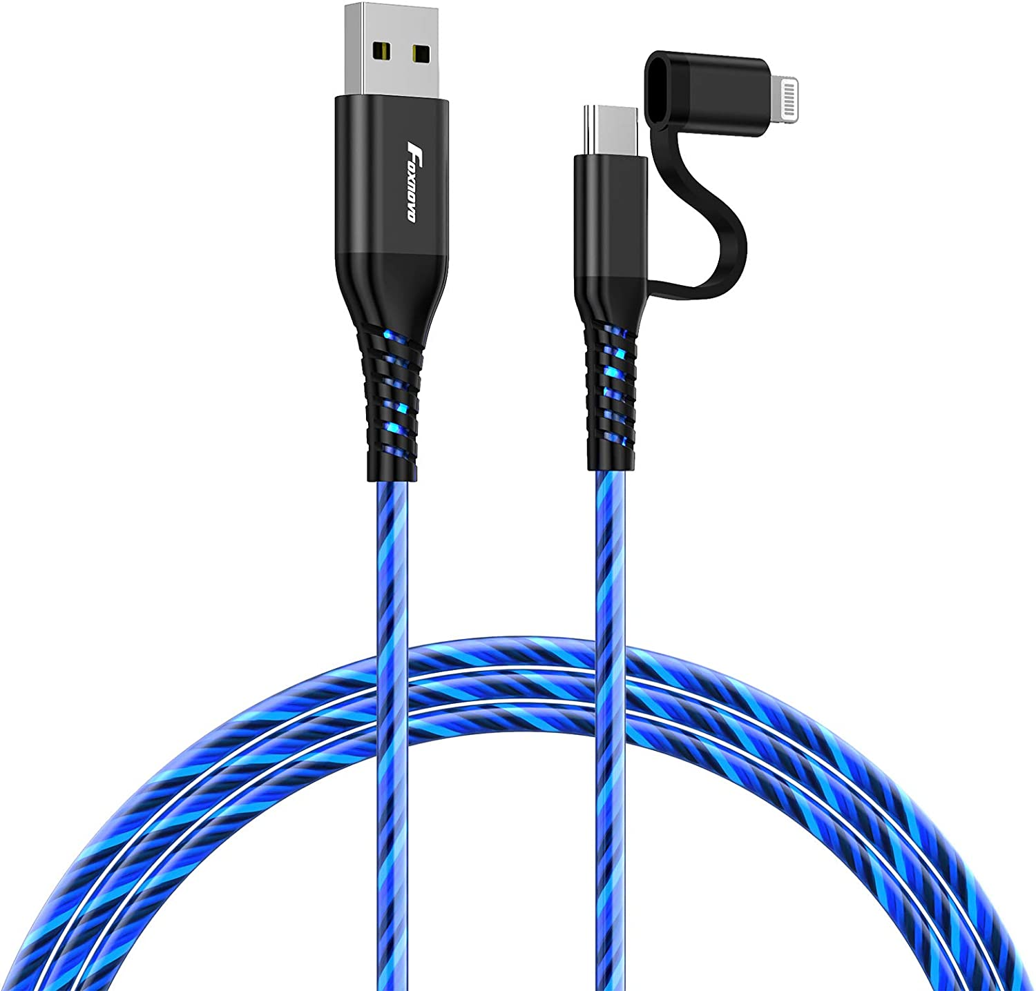 Foxnovo Apple Lightning Cable - iPhone Charging Cord USB A to USB C Lightning Cord MFI Certificated 3ft Charger Wire for iPhone 12 11 Pro 7 6 XS iPad iPod Mini