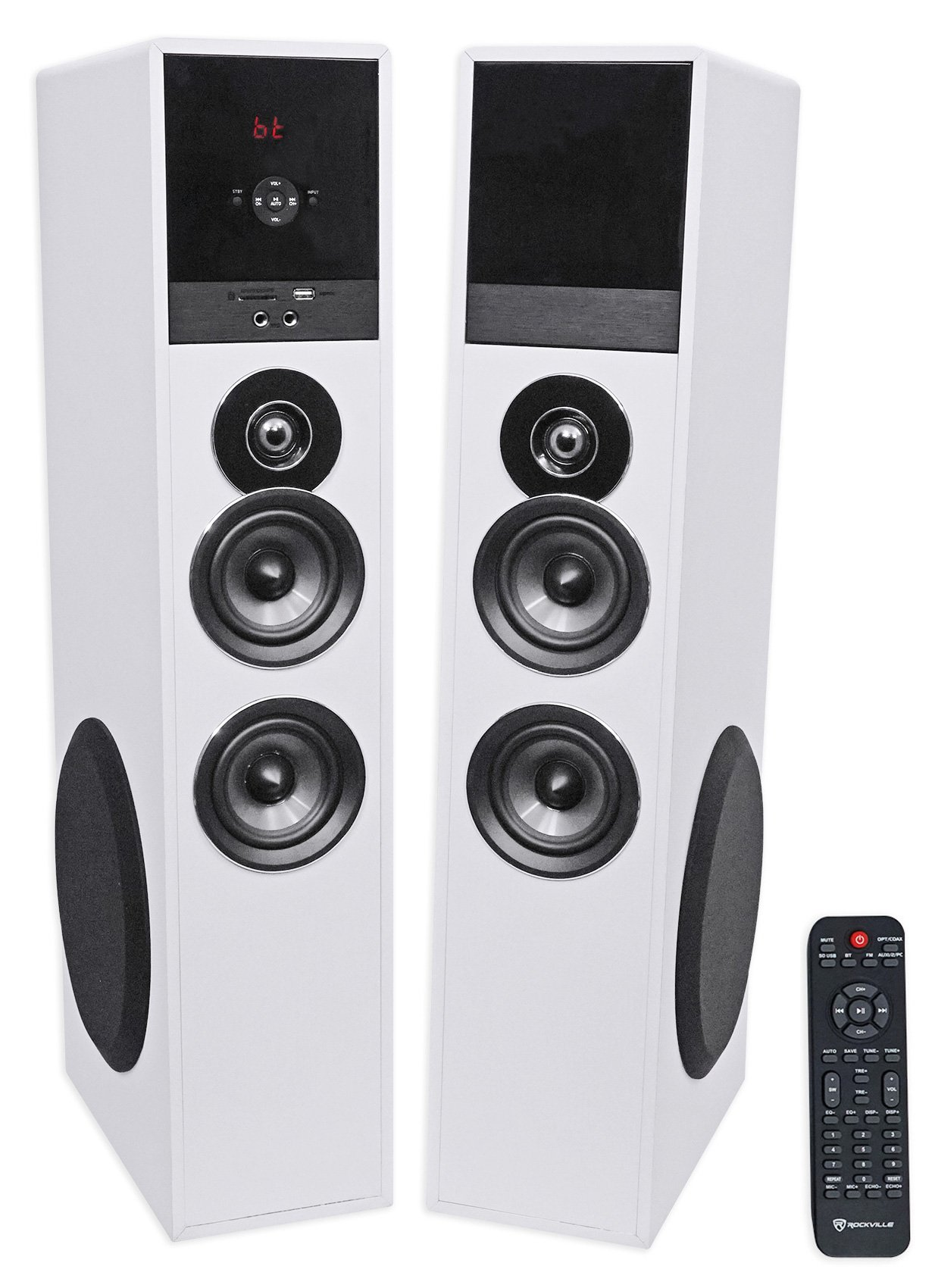 Tower Speaker Home Theater System+8'' Sub For Samsung Q7C Television TV-White