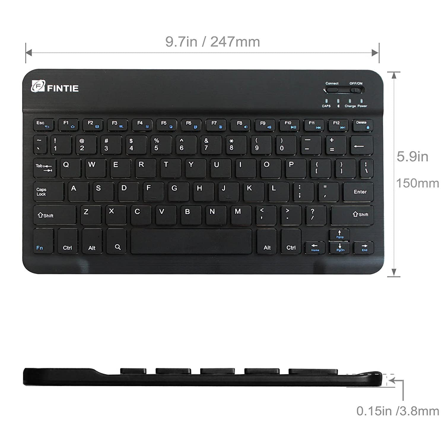 For Samsung Galaxy Android Tablet Slim 10 Inch Wireless Bluetooth Keyboard