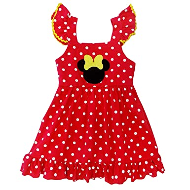 23bccd4b5 So Sydney Girls Toddler Pink or Red Minnie Mouse Kids Boutique Dress or  Outfit (2T