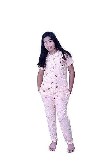 d4eaa5d2569 Babydoll - Self Printed Girls Kids Night Suit Super Soft Nightwear Cotton  Hosiery Top and Payjama Set