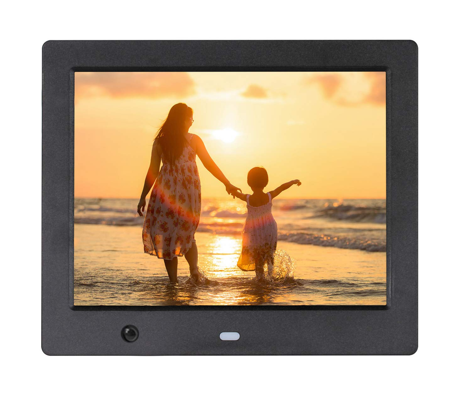ACOWSUN Digital Picture Frame 12 Inch HD 1280X800 Plastic case Can Play Photos Music Videos When Insert Photo Frames USB SD Have Motion Sensor Remote and 4G SD Card Include