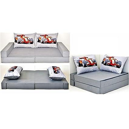 Sofá cama infantil para niños con diseño de colchón cojín del asiento y juego de sofá