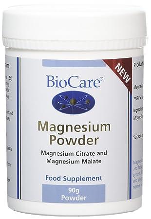 biocare magnesium powder 90 g amazon co uk health personal care