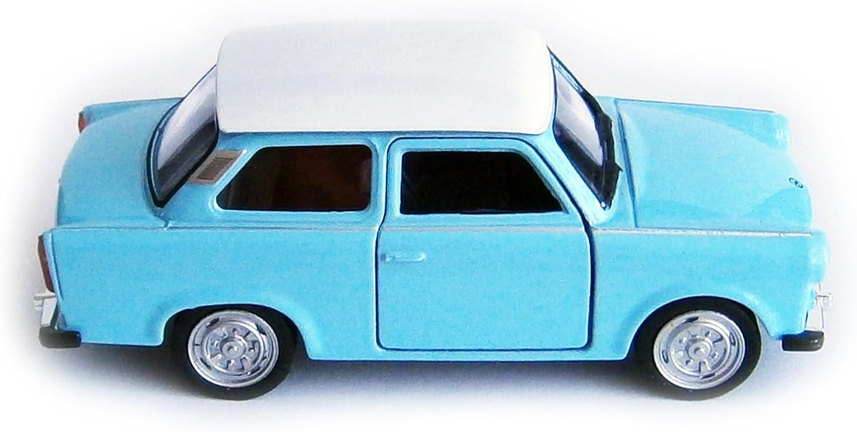 Blau Welly Trabant 601 Modellauto 11,5cm Trabi Modell Auto Spielzeugauto 4-Varianten 14