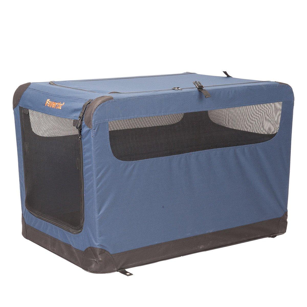 Favorite 36'' Soft Sided Pet Carrier, 2 Doors, Indoor Outdoor Dog Kennel, Travel Vet Visit Collapsible Soft Dog Crate
