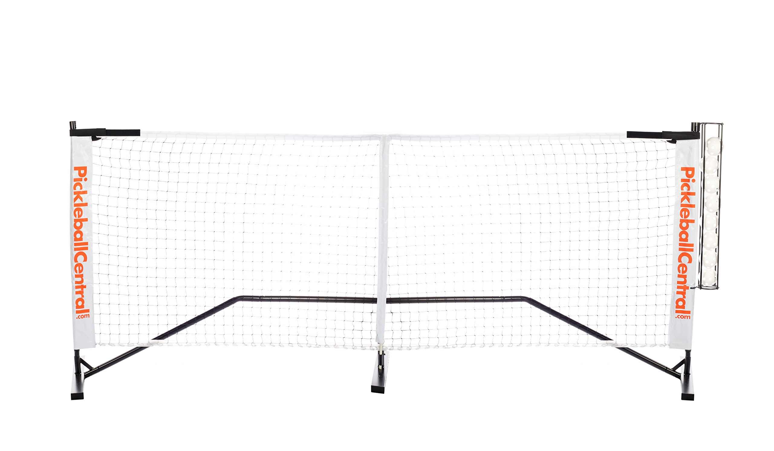 PickleballCentral Rally Portable Pickleball Net System with Ball Holder by PickleballCentral