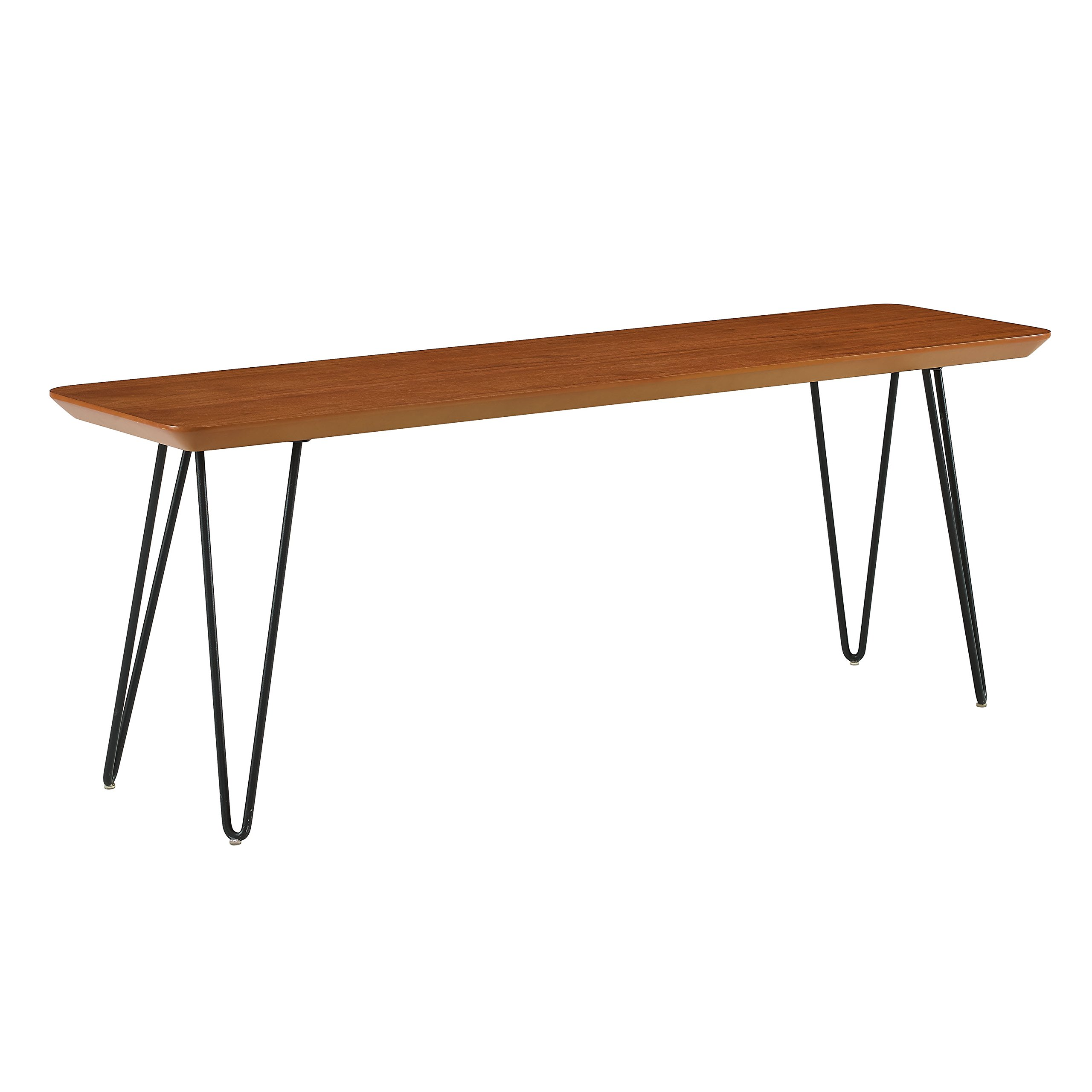 WE Furniture AZB56HPDWT Dining Bench, 13'' L x 48'' W x 18'' H, Walnut