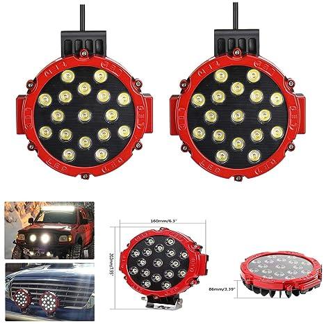 Amazon.es: SXMA Lámpara de Trabajo LED Redonda de 7 Pulgadas Faros ...