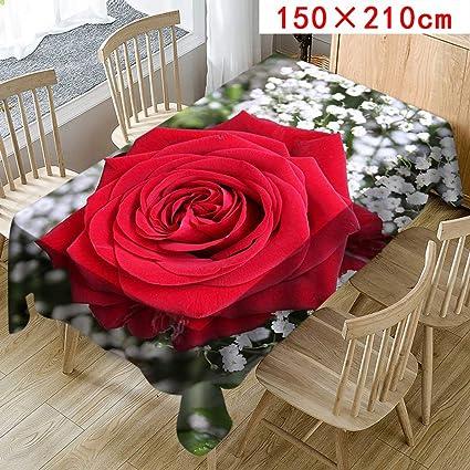 Moika Floral Imprimé Nappe Pour Table Rectangulaire Carrée Nappes Anti Taches En Lin Nappe Décorative C 150 210