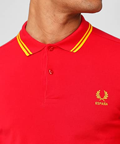 Fred Perry España Country Polo Shirt-S: Amazon.es: Ropa y accesorios