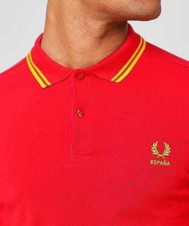 Fred Perry España Country Polo Shirt-S: Amazon.es: Ropa y accesorios