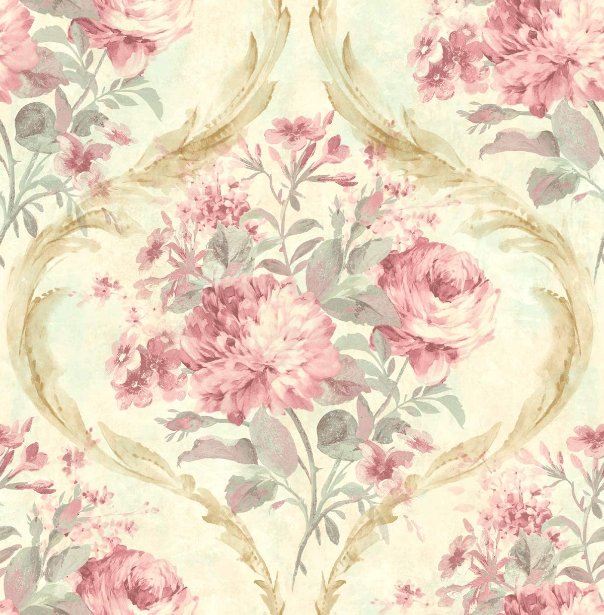 Pink Floral Wallpaper Chinoiserie Wallpaper Rose Wallpaper Rose