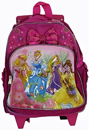 Amazon.com: Assorted Disney Princess Toddler Rolling Backpack ...