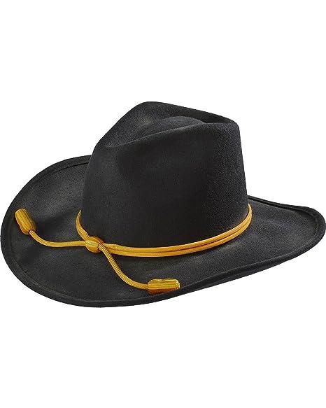 Amazon.com  Resistol Men s John Wayne Hondo Cavalry Hat Black Large ... a132e42252a8