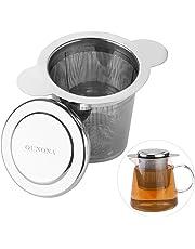 Colador de té de acero inoxidable 304 con bandeja para goteo