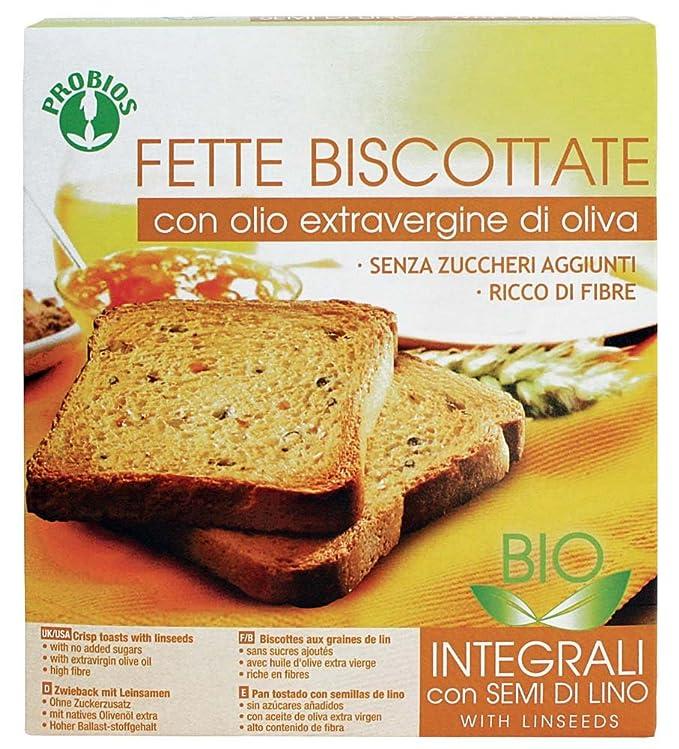 Pan integral con aceite de linaza 270 g BIO: Amazon.es ...