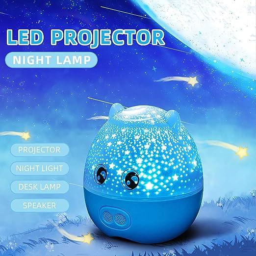 Festnight Lámpara de Noche LED Lámpara de proyector Lámpara ...