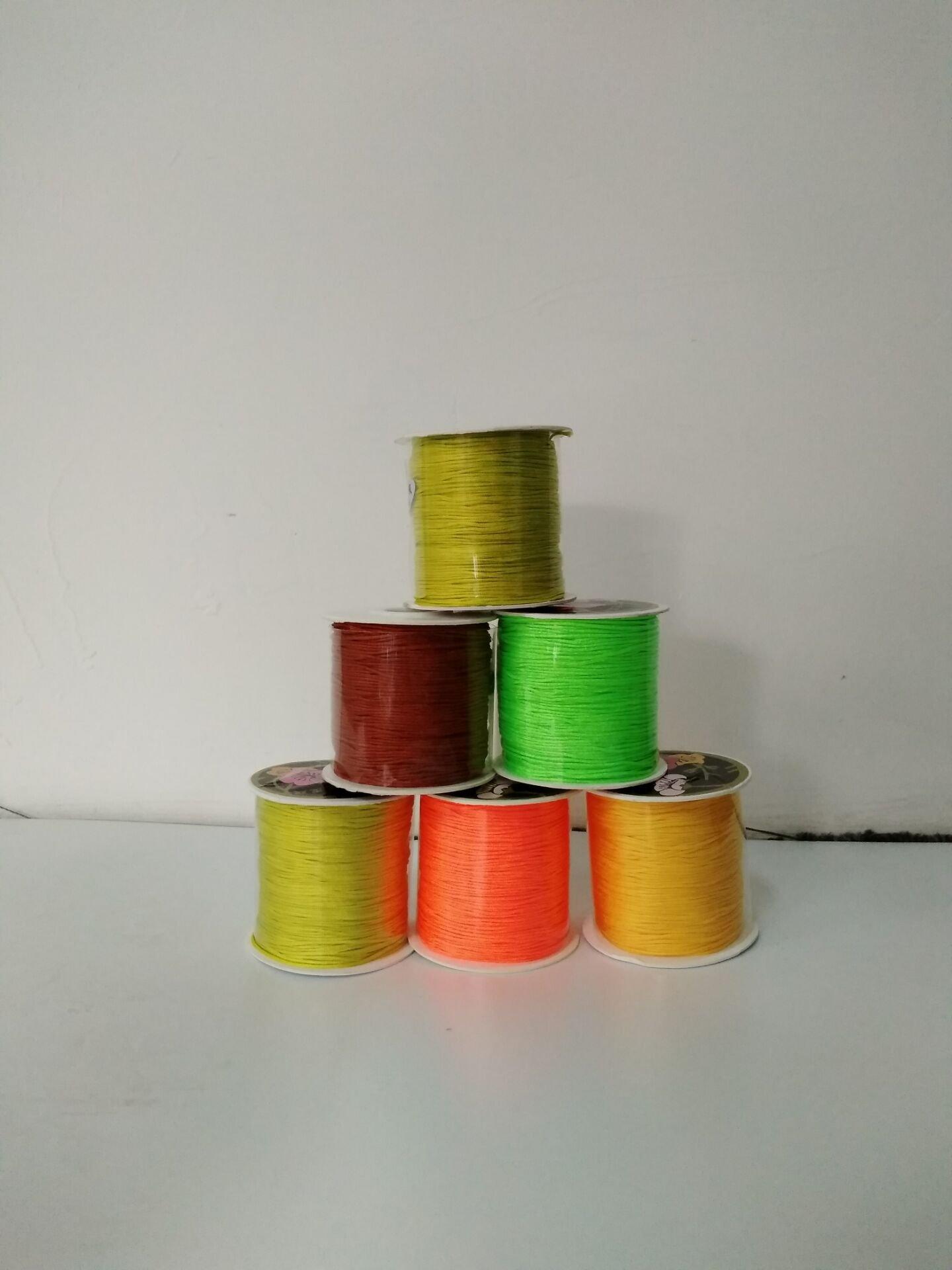 Yerger Chinese Knotting Cord Nylon Shamballa Macrame Thread Rope 0.5mm(Ten of packs)