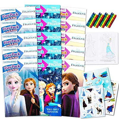 Bendon Set of 15 Kids Frozen Play Fun Party Favors Packs Coloring Book Crayons Stickers: Toys & Games