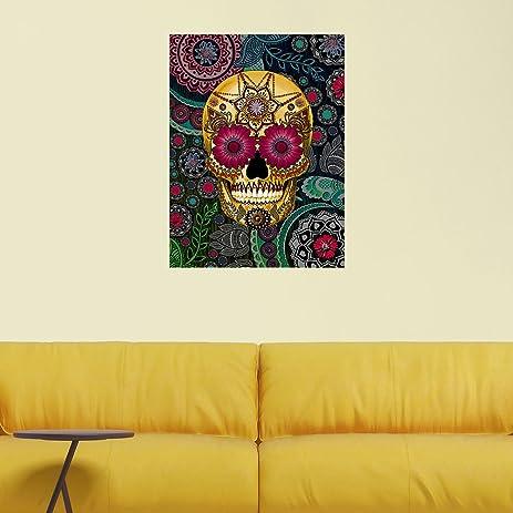Amazon.com: My Wonderful Walls Sugar Skull Paisley Garden Vertical ...