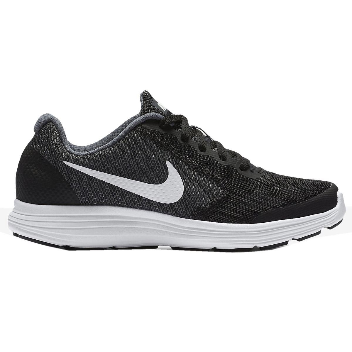 Nike Boy's Revolution 3 (GS) Running Shoe Dark Grey/White/Black/Pure Platinum Size 6.5 M US by NIKE