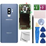 Vimour Back Cover Glass Replacement for Samsung Galaxy S9+ Plus G965U All Carriers with Pre-Installed Camera Lens, All The Ad