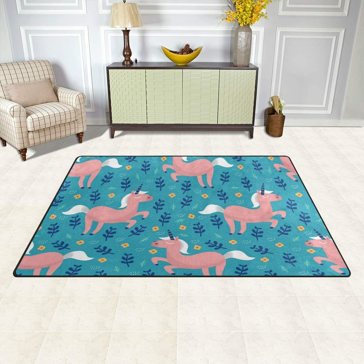 Amazon.com: Unicorn Rug for Girls Bedroom, Unicorn Bedroom ...
