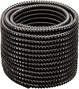 HYDROMAXX Non Kink, Corrugated, Flexible PVC Water Garden Hose and Pond Tubing. Made in USA. Thick Wall. US/UL Sizing (1 1/2