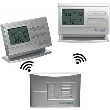 programmierbar digital bis 9 Empf/änger VASNER Funk Raumthermostat Set VFTB-US Unterputz f/ür Infrarotheizung