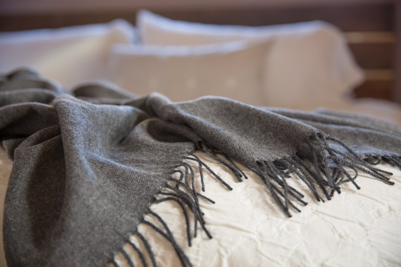 Maloca Baby Alpaca Throw Blanket - 100% Premium Baby Alpaca Wool Charcoal - Ethically Sourced, The Perfect Gift for Any Age or Occasion. Limited Production