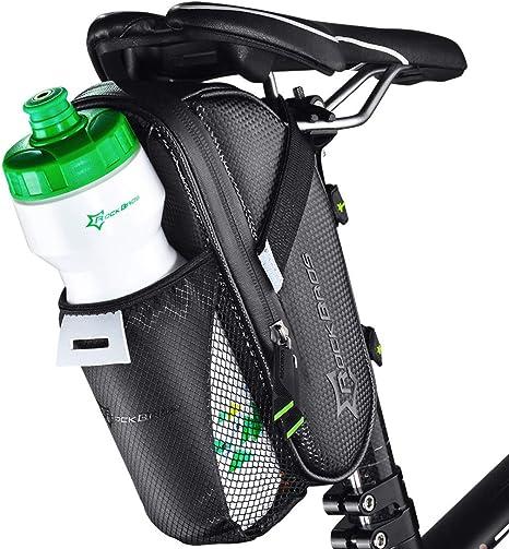 ROCKBROS Bolsa para Sillín de Bicicleta Impermeable de Asiento con ...