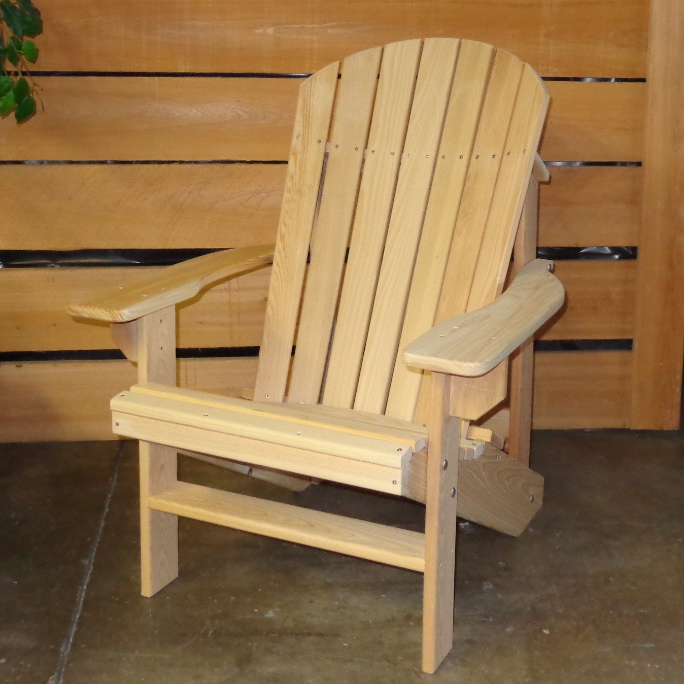 Charmant Amazon.com : Cypress ADIRONDACK Chair And OTTOMAN With Contoured Seat And  Back Assembled With Stainless Steel Hardware Handmade In The USA With ...
