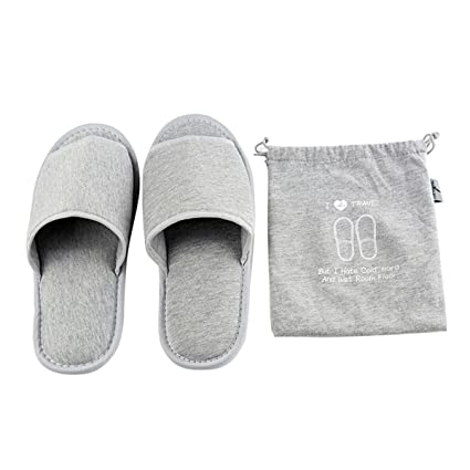 21e5a1d7070c3 Comfysail Foldable Portable Slippers Washable Open Toe Towelling ...