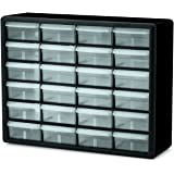 Akro-Mils 10724 24-Drawer Plastic Parts Storage Hardware and Craft Cabinet, 20-Inch by 16-Inch by 6-1/2-Inch, Black