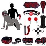 BDSM Set Sexspielzeug Bondage Asofty SM 10 Zubehör In Roter Spitze Fesselspiel Herrschaft Unterwerfung Für Paare