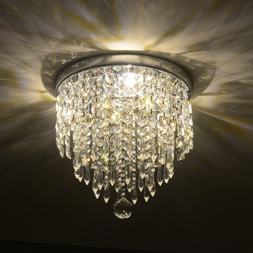 Hile Lighting KU300074 Modern Chandelier Crystal Ball Fixture Pendant Ceiling Lamp H9.84'' X W8.66'', 1 Light by Hile Lighting (Image #2)
