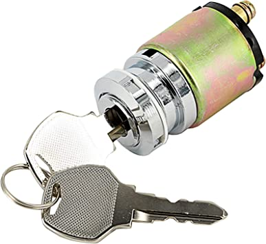 Ignition Switch with Round Key Harley Ignition Switch Chrome 3-Position Switch