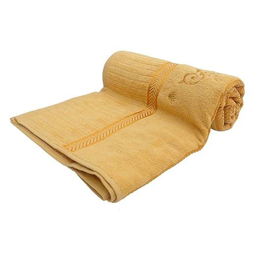 Amarilla de la toalla de baño de la playa de baño de spa en seco Gimnasio toallas de algodón absorbente Toallita: Amazon.es: Hogar